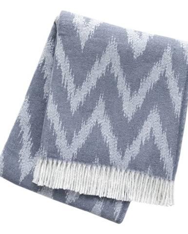 Sivo-modrý pléd s podielom bavlny Euromant Mallorca, 140 x 160 cm