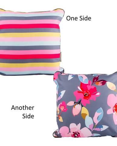 Obojstranný vonkajší vankúšik Navigate Floral&Stripe
