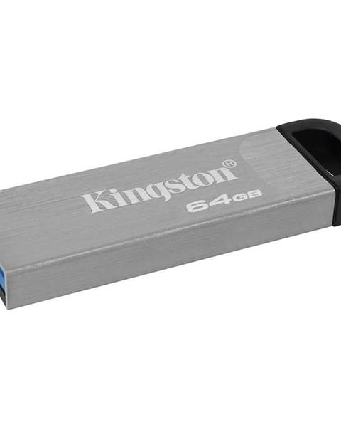 Kingston USB flash disk Kingston DataTraveler Kyson 64 GB strieborný