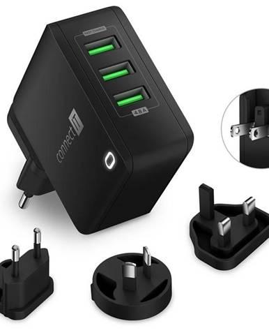 Nabíjačka do siete Connect IT Nomad2 WorldTravel, 3x USB, 24W