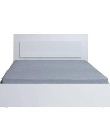 Manželská posteľ 160x200 biela/ vysoký biely lesk HG ASIENA