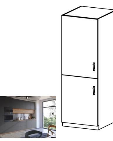 Vysoká skrinka dub artisan/sivý mat ľavá LANGEN D60ZL