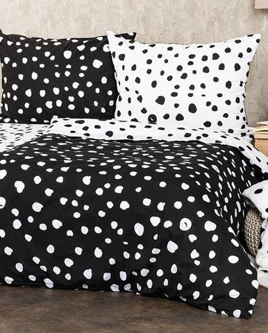4Home Bavlnené obliečky Dalmatín čiernobiela, 220 x 200 cm, 2 ks 70 x 90 cm
