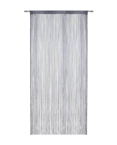 Nitkový Záves Franz, 90/245cm, Sivá