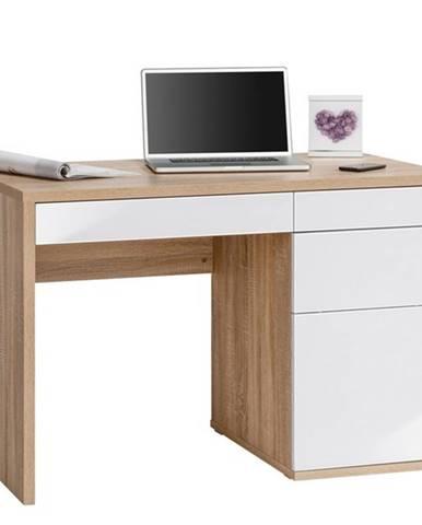 Písací stôl ELLIS dub sonoma/biela