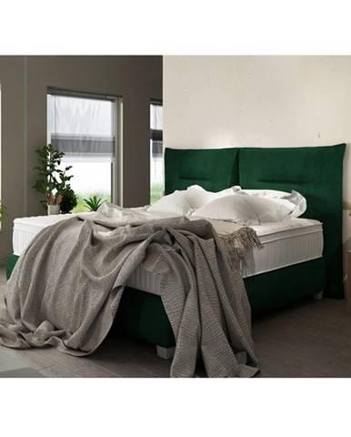 Posteľ boxspring ESTEE zelená, 180x200 cm