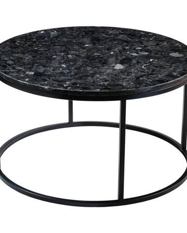 Čierny žulový konferenčný stolík RGE Black Crystal, ⌀ 85 cm