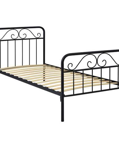 Kovová posteľ LEON 120x200 čierna