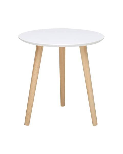 IDEA Nábytok Odkladací stolík IMOLA 3 biely/borovica
