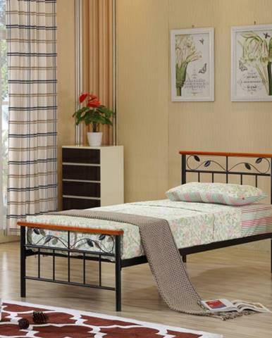 Tempo Kondela Jednolôžková kovová posteľ MORENA / 90x200