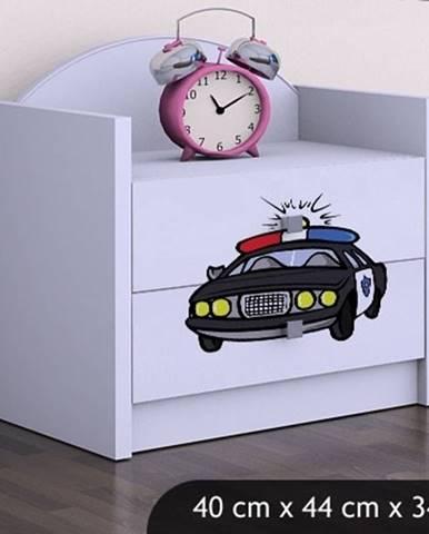 Happy Babies Nočný stolík HAPPY/ 54 Policajné auto SZN01