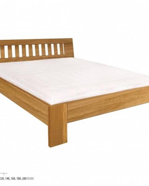 Drewmax Drewmax Manželská posteľ - masív LK293 | 140 cm dub