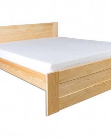 Drewmax Manželská posteľ - masív LK102   160cm borovica