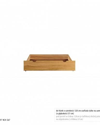 Drewmax Úložný box pod posteľ - masív LK270   dub
