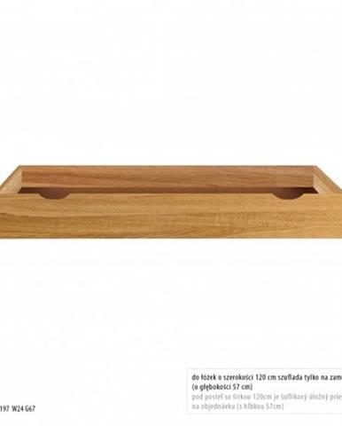Drewmax Úložný box pod posteľ - masív LK272   dub