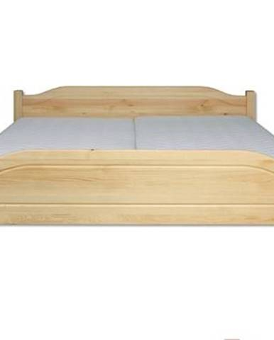 Manželská posteľ - masív LK101   200cm borovica