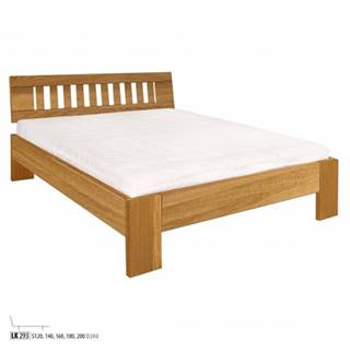 Drewmax Manželská posteľ - masív LK293 | 140 cm dub