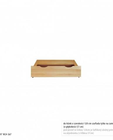 Drewmax Úložný box pod posteľ - masív LK170 / buk