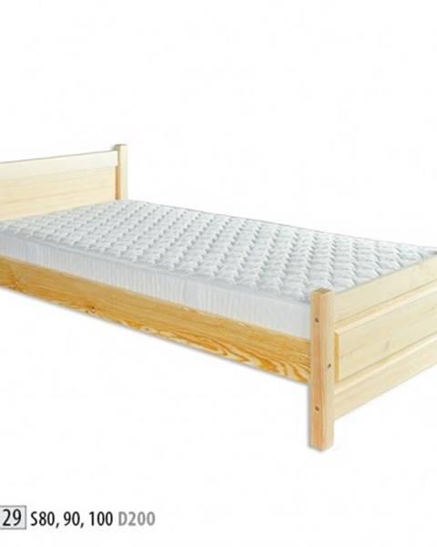 Drewmax Drewmax Jednolôžková posteľ - masív LK129 | 80 cm borovica