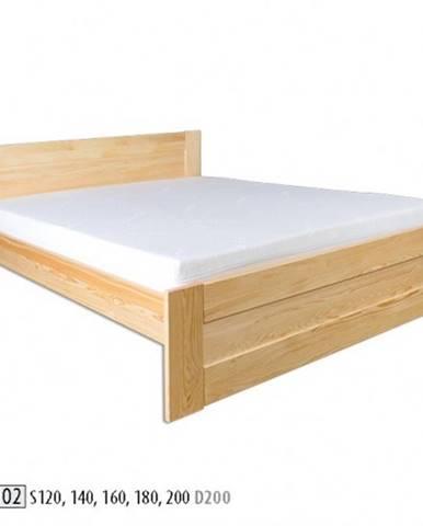Drewmax Manželská posteľ - masív LK102 | 200cm borovica