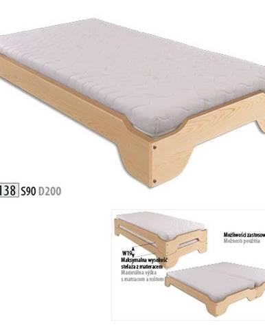 Drewmax Stohovateľná posteľ - masív LK138