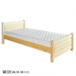 Drewmax Jednolôžková posteľ - masív LK129 | 80 cm borovica