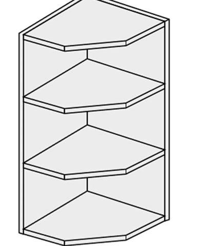 ArtExt Kuchynská skrinka horná rohová