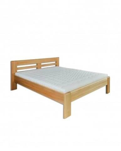 Manželská posteľ - masív LK111   160cm buk