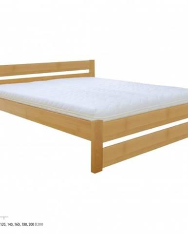 Manželská posteľ - masív LK190   120cm buk