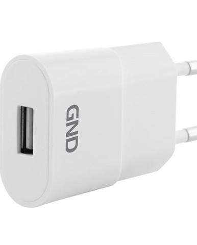 Nabíjačka do siete GND 1x USB, 1A biela