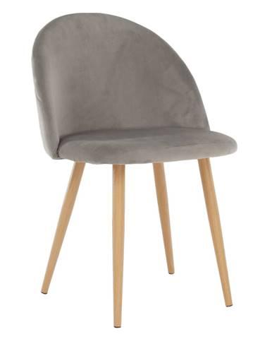 Jedálenská stolička svetlosivá Velvet látka FLUFFY poškodený tovar