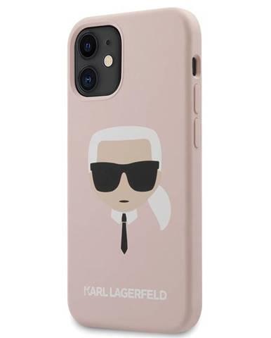 Kryt na mobil Karl Lagerfeld Head na Apple iPhone 12 mini ružový