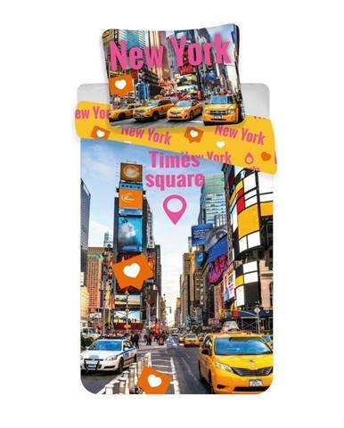 Jerry Fabrics Bavlnené obliečky Times Square, 140 x 200 cm, 70 x 90 cm