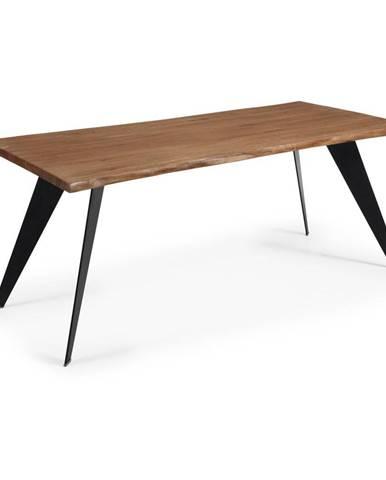 Jedálenský stôl s tmavohnedou doskou La Forma Nack, 180 x 100 cm