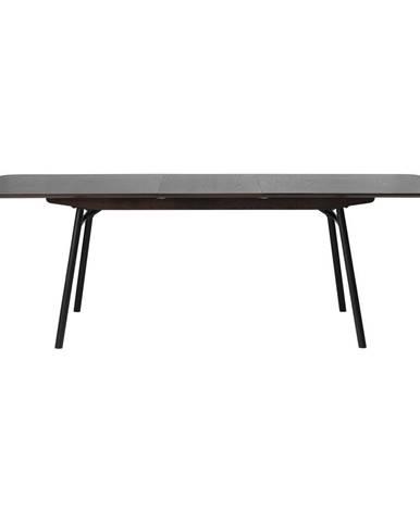 Čierny rozkladací jedálenský stôl Unique Furniture Latina, 180x90cm