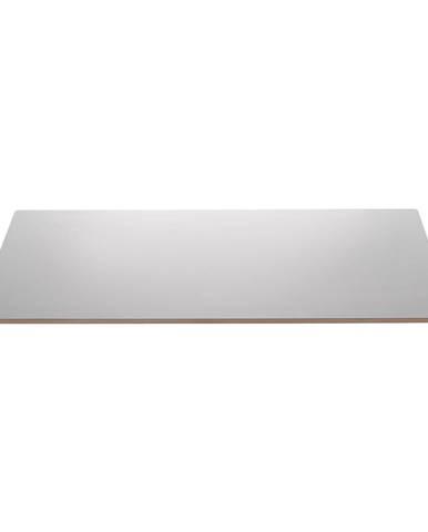 Sivá doska k rozšíreniu stola Unique Furniture Bilbao, 45 x 90 cm
