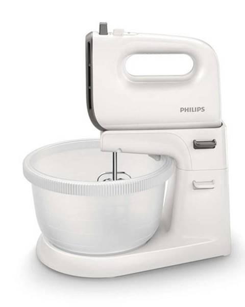 Philips Ručný šľahač s misou Philips Viva Collection HR3745/00 sivý/biely