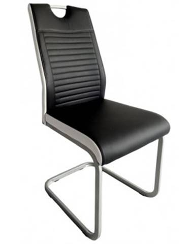 Jedálenská stolička Rindul, čierna / biela ekokoža%