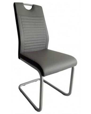 Jedálenská stolička Rindul, sivá / čierna ekokoža%
