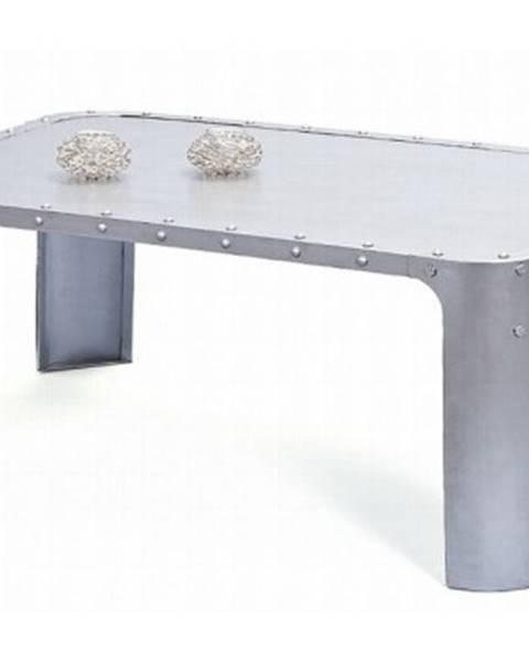 ASKO - NÁBYTOK Konferenčný stolík Gormur, šedý vintage povrch%