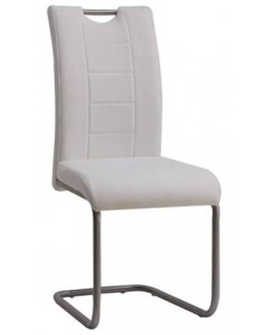 Jedálenská stolička Cindy, biela ekokoža%
