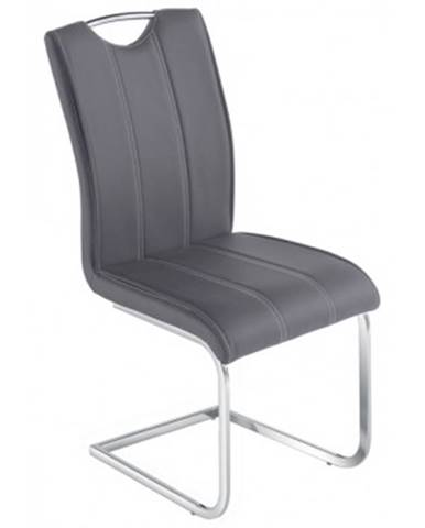 Jedálenská stolička Elza, šedá ekokoža%