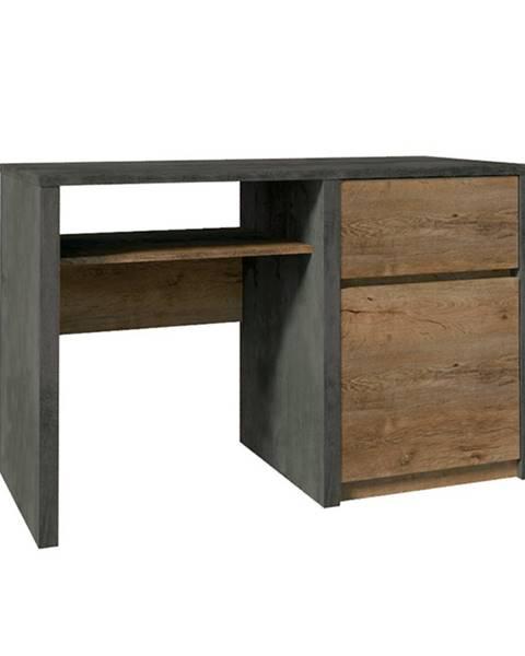 Tempo Kondela PC stolík dub lefkas tmavý/smooth sivý MONTANA B1