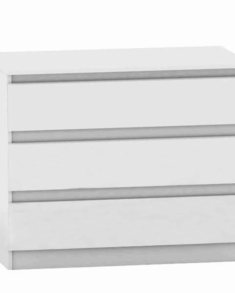 Kondela 3 šuplíková komoda biela HANY NEW 003