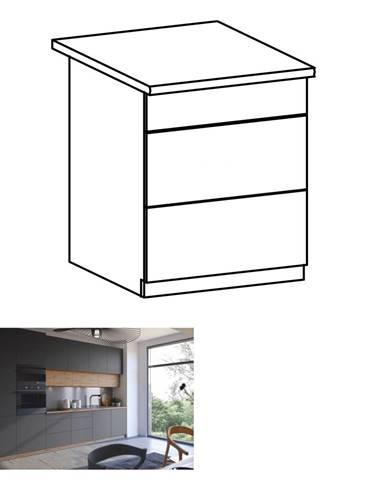 Spodná skrinka dub artisan/sivý mat s otváraním PUSH UP LANGEN D60S3