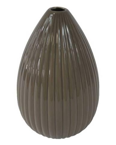 Keramická váza VK38 hnedá lesklá