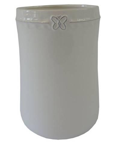 Keramická váza VK50 biela s motýlikom