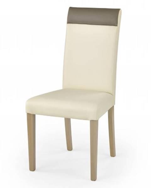 OKAY nábytok Jedálenská stolička Norbert krémová, dub sonoma