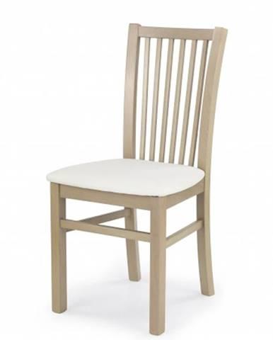 Jedálenská stolička Jacek biela, dub sonoma