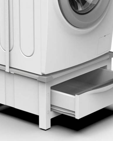 Podstavec so zásuvkou pre práčku a sušičku Meliconi M656144